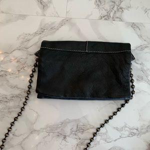 Free People folded up leather crossbody bag